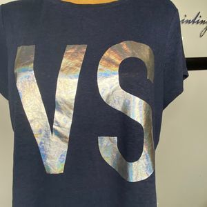 VS  shirt reflective lettering